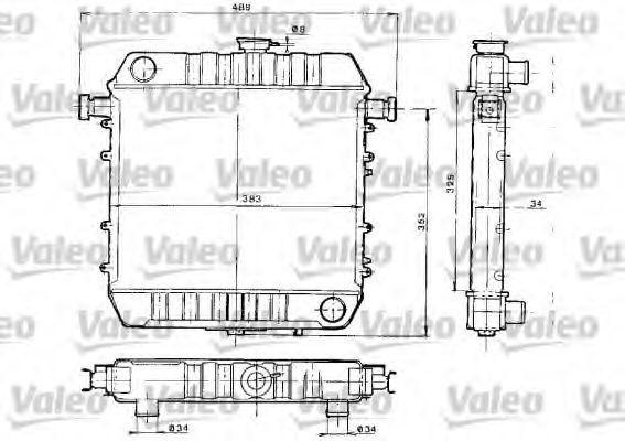 Радиатор, охлаждение двигателя VALEO 730152