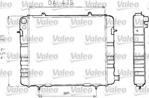 Радиатор, охлаждение двигателя VALEO 730163