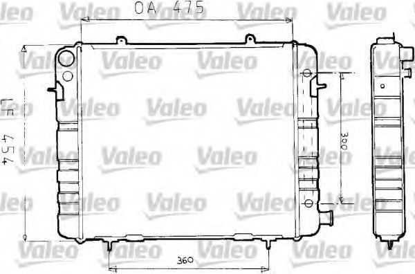 Радиатор, охлаждение двигателя VALEO 730164