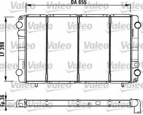 Радиатор, охлаждение двигателя VALEO 730944