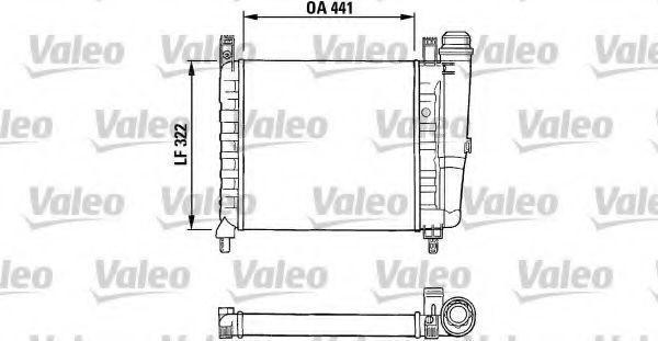 Радиатор, охлаждение двигателя VALEO 730990