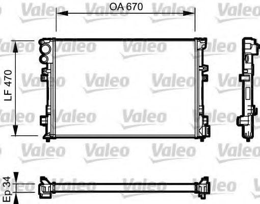 Радиатор охлаждения VALEO 731168