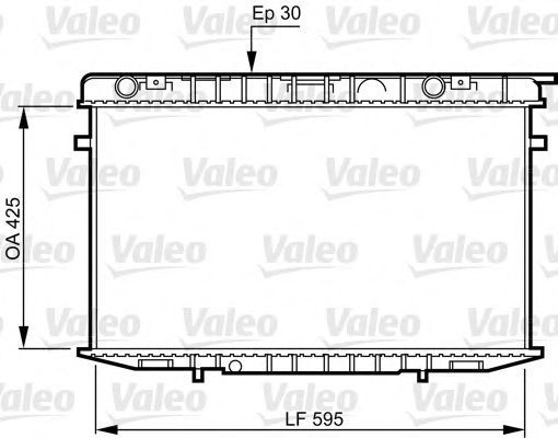 Радиатор, охлаждение двигателя VALEO 731236