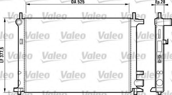 Радиатор, охлаждение двигателя VALEO 731736