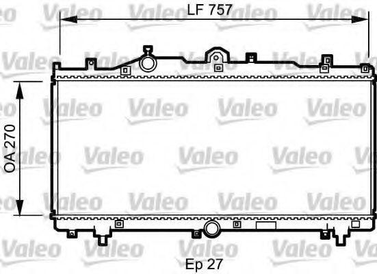 Радиатор, охлаждение двигателя VALEO 731979