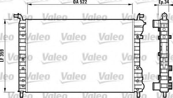 Радиатор охлаждения VALEO 732006