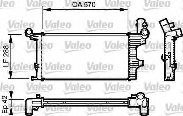 Радиатор охлаждения VALEO 732303