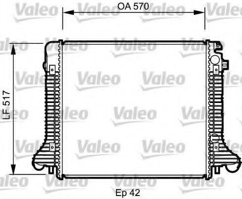 Радиатор охлаждения VALEO 732304
