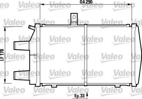 Радиатор, охлаждение двигателя VALEO 732473