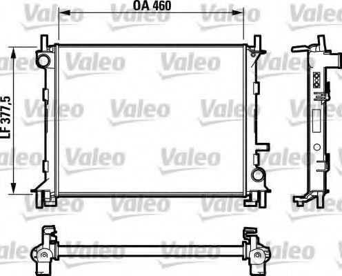 Радиатор охлаждения двигателя VALEO 732731