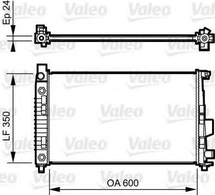 Радиатор охлаждения VALEO 732897
