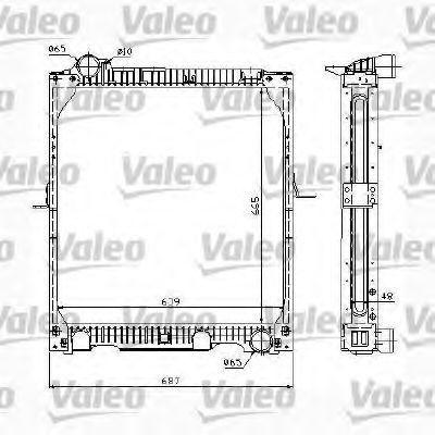 Радиатор, охлаждение двигателя VALEO 732986