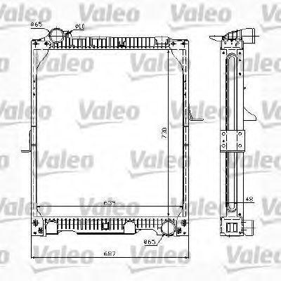 Радиатор, охлаждение двигателя VALEO 732991