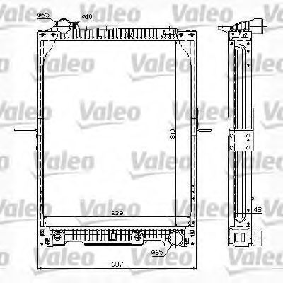 Радиатор, охлаждение двигателя VALEO 732995