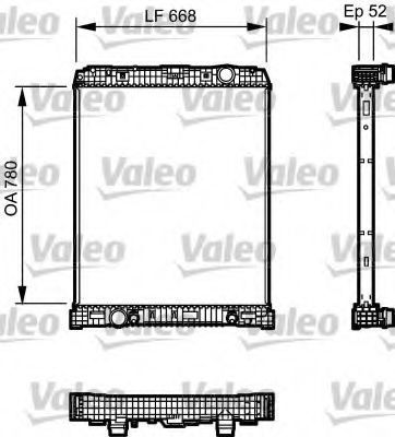 Радиатор, охлаждение двигателя VALEO 733488