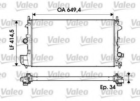 Радиатор охлаждения VALEO 734339