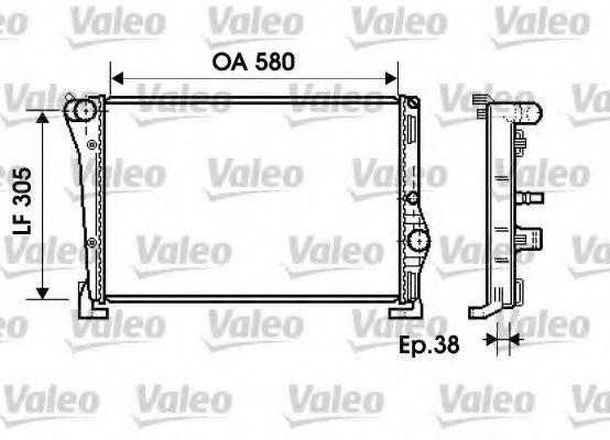 Радиатор охлаждения VALEO 734364