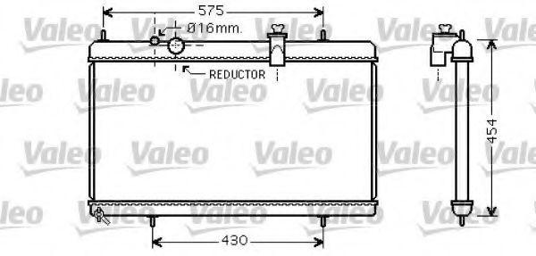 Радиатор, охлаждение двигателя VALEO 734452