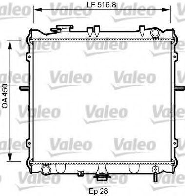 Радиатор, охлаждение двигателя VALEO PHC 734788