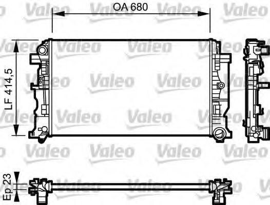 Радиатор охлаждения VALEO 734927