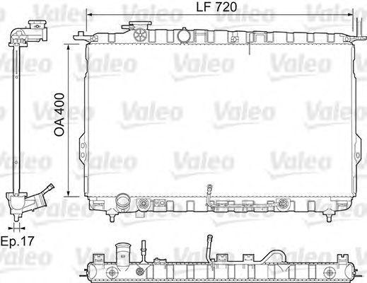 Радиатор, охлаждение двигателя VALEO 734974