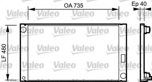 Радиатор охлаждения VALEO 735033