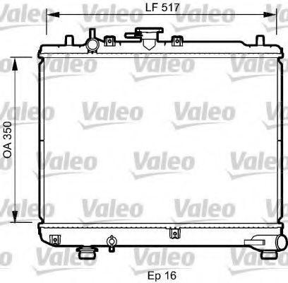 Радиатор, охлаждение двигателя VALEO 735076