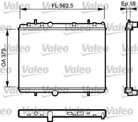 Радиатор охлаждения VALEO 735091