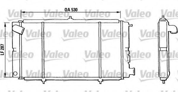 Радиатор, охлаждение двигателя VALEO 810811