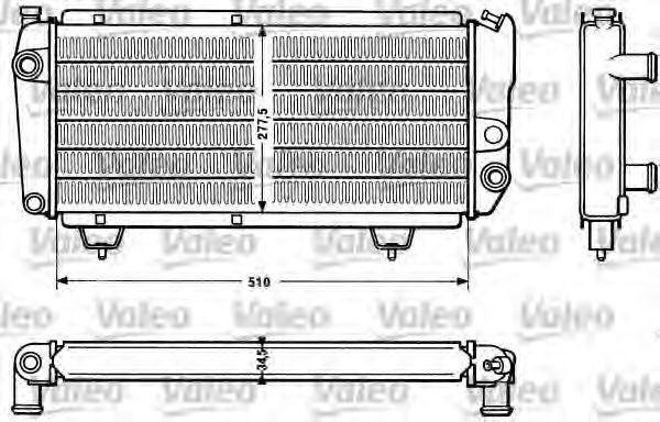 Радиатор, охлаждение двигателя VALEO 810831