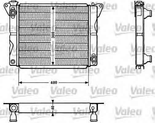 Радиатор, охлаждение двигателя VALEO 810879