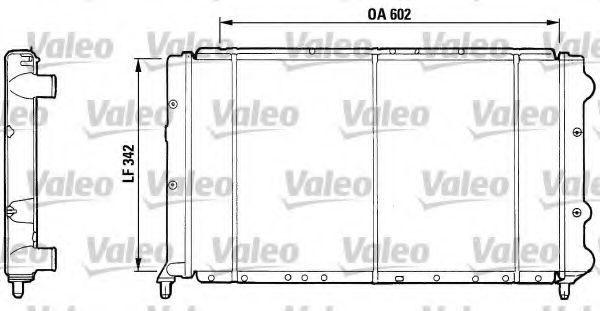 Радиатор, охлаждение двигателя VALEO 810921