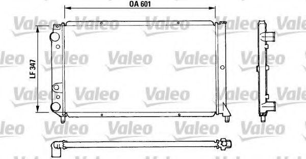 Радиатор, охлаждение двигателя VALEO 810922
