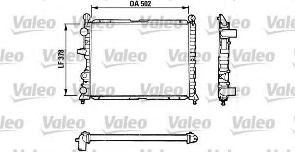 Радиатор охлаждения VALEO 811071