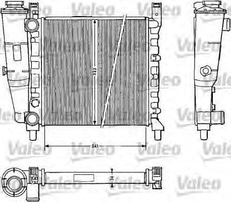 Радиатор охлаждения VALEO 811385