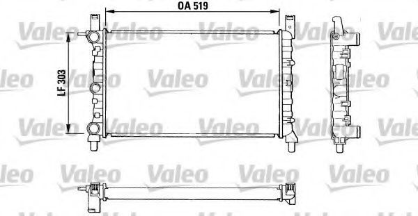 Радиатор, охлаждение двигателя VALEO 811387