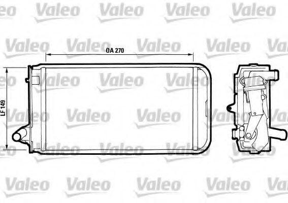 Теплообменник, отопление салона VALEO 811393