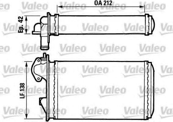 Радиатор отопителя VALEO 812029
