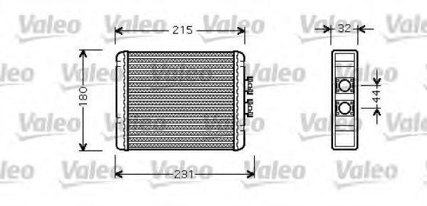 Теплообменник, отопление салона VALEO 812319