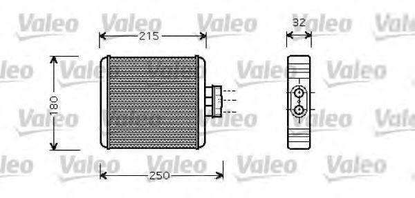 Теплообменник, отопление салона VALEO 812323