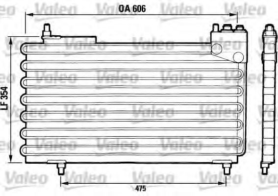 Конденсатор, кондиционер VALEO 816640