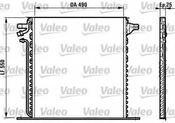 Радиатор кондиционера VALEO 817011