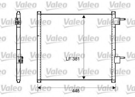 Радиатор кондиционера VALEO 817225