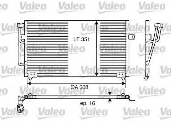 Радиатор кондиционера VALEO 817560