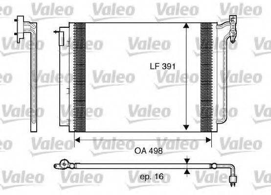 Радиатор кондиционера VALEO 817575