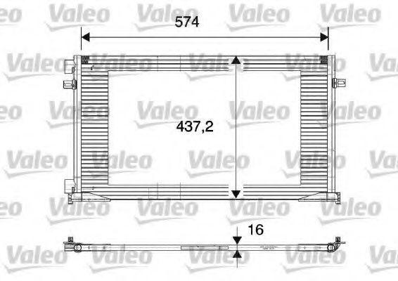 Радиатор кондиционера VALEO 817577
