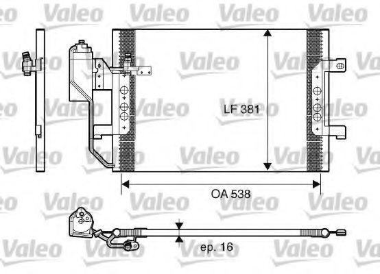 Конденсор кондиционера VALEO 817659