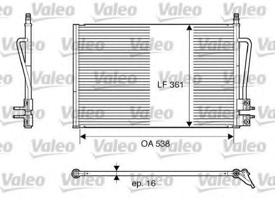 Конденсор кондиционера VALEO 817664