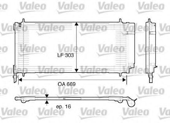 Радиатор кондиционера VALEO 817740