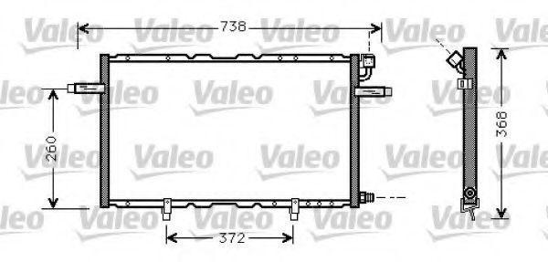 Конденсатор, кондиционер VALEO 817797
